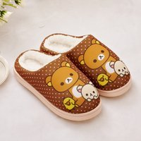 bear feet shoes - Fashion dots Winter Warm Cotton padded Shoes For Men and Women Home Soft Plush Slippers Indoor Shoes Cute bear Foot Warmer