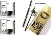 Wholesale In stockNEW HOT Kylie Cosmetics Kylie Kyliner In Brown AND Black Kyliner Kit Birthday Edition Dark Bronze Set DHL from arumi
