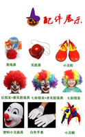 adult clown shoes - Halloween Costume Adult Child Clown Suit Carnival Christmas Cosplay Costumes Clown Masks Wigs Shoes Gloves Bag Kinds For Party