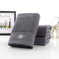 Wholesale 50 cm Grey Large Cotton Terry Hand Towels Set Bulk Soft Luxury Decorative Bathroom Hand Towels Set Serviette de Toilette