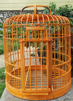 Wholesale bamboo Birdcage Starling Thrush cage Health birds Cage CM To send a full set of accessories