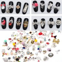 Wholesale 10 Nail Alloy D Rhinestone For Nail Art Decorations Fashion D Nail Jewelry Mix Design Supplies Nails Accessoires