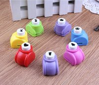 Wholesale DIY Paper Punch Cutter Kid Child Mini Printing Hand Shaper Scrapbook Tags Cards Craft Tool