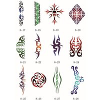 adhesive backed stencils - 100 Designs Self Adhesive Body Art Temporary Tattoo Airbrush Stencils Template Books of Butterfly and Animals Booklet