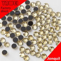 Wholesale Jonquil crystal Hot drilling Rhinestones Flatback Round gross in a Nail Art Hot Fix Shoes Rhinestones