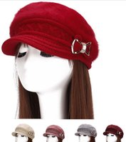 Wholesale Women s Winter Warm Feather Knitted Beret Cap With Bowknot Adornment Nap inside For Adult Heavy to g