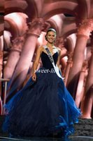 beauty drops toppings - Miss USA Pageant Evening Gowns Navy Blue Velvet Top Full Length Organza Sweetheart Long Occasion Dress Prom Dresses Beauty Queen Party