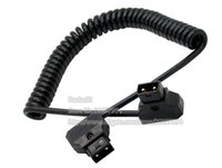battery cable connections - DTAP Extension Cord PU Coiled D Tap Male to Male Connection Cable For DSLR Rig Power V Mount Anton Battery