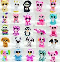 Wholesale TY beanie boos Plush Toys simulation animal TY Stuffed Animals super soft inch cm children gifts