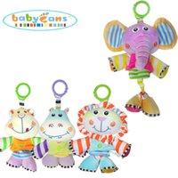 Wholesale Animal Style Elephant Baby Rattle Toys Animal Hand Bells Plush Newbron Infant Gift Legs Stretch Educational Play Grip Kids Toy