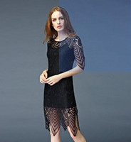 Wholesale Newes summer Fashion Women Casual Dress Black dress sexy Slim lace dress women High Waist Mermaid skirt Dresses for Slim Elegant Lace Dress