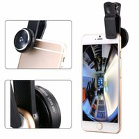 Wholesale 10pcs Universal Mobile Phone Fish Eye Degrees Wide Angle Macro Camera Clip on Lens for Smartphone Selfie