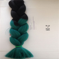 Wholesale Ombre Synthetic Braiding Hair Bulks Extensions Hair in Braid G inch Two Tone Ombre Braid Hair Bulk Jumbo Braid Hair Extensions