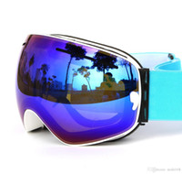 Wholesale High Quality Women Men Brand Ski Goggles Glasses Anti fog Anti Uv Proof lens Mask Snowboard Double Layers Cocker myopia goggles SZ G01