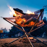 bbq wire rack - Charcoal Rack Barbecue Fire Stand Outdoor Camping Hand Warmer Stove BBQ Picnic Cooking Campfire Grill Shelf with Wire Mesh MA0199