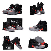 badminton court - With shoes Box New Model Hot Sale XIII Lebron ON Court Grey Black Men Shoes