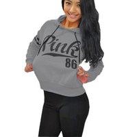Wholesale 2016 Women Hoodies Autumn Sportswear VS Love Pink Letter Print Cotton Femme Long Sleeve Casual Tracksuit Sweatshirt