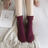 angora women - Soft Women Knee Socks High Quality Cotton and Angora wool Boots Socks Fashion Solid Color Girls Leg Warmers