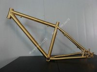 bicycle touring gear - Supply golden color disc brake gr9 Ti3al2 v titanium mountain bicycle frame from China factory price