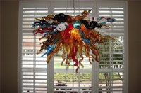 Wholesale Hotsale Chihuly Style CE UL Certificate Energy saving Murano Glass Crystal Livingroom Decorative Modern Colorful Chain Ceiling Chandelier