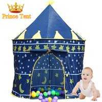 Wholesale Great Gift Large Blue Prince Tent Cute Kids Game House Child Beautiful Play Tent Pretty Indoor And Outdoor Baby Tent ZP2012