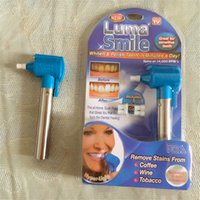 abs wine - Newest Handheld Luma Smile Motor ABS Dental Bleaching Lamp Easy Tooth Polish Whitening Kit remove stains coffee wine tobacco tool DHL free