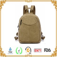 backpack makers - oem CANVAS BACKPACK BAG in per carton and fashion body material side pocket string open cover canvas backpack bag in xiamen bag maker