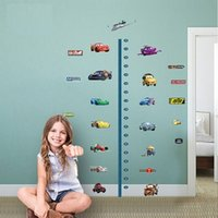 baby height ruler - Cartoon Cars Wall Stickers Height Ruler Art Nursery For Kids Baby Room Decor