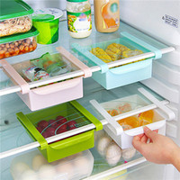 plastic storage shelf drawers - Kitchen Fridge Freezer Space Saver Organizer Storage Rack Shelf Holde Drawer