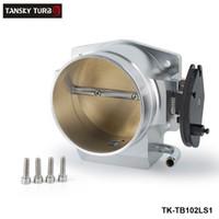 Wholesale TANSKY For GM LS1 LS2 LS4 LS6 LS7 Aluminium Intake Manifold MM Throttle Body Kits Silver TK TB1021S