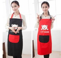 Wholesale real crafts avental de cozinha divertido Brown Bear aprons kitchen accessories fashion overalls home apron japan cartoon