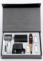 Professional Kit adaptor taiwan - Taiwan Original Permanent Makeup Machine set Gold Rose Rotary Tattoo gun kit with traditional needles adaptor