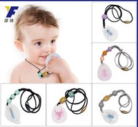 amber necklace baby - 2016 Amber Pendant Necklace Baby Silicone food grade Necklaces insects Teething Jewels Necklaces Waterdrop educational toy
