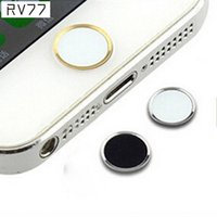 Wholesale New Fashion Metal Aluminum Button Keyboard Sticker For iPhone S Phone Sticker Decor