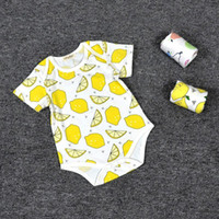 baby brand garments - Spot ins Summer children s One Piece Garment Cute Baby Climbing Clothing Cotton Fruits Kids Rompers Hot Sale Lovely Baby Jumpsuit MC0121