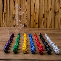 Wholesale Whosesale New Set Resin Polyhedral Games Opaque Multi Sides Dice Pop for Gaming party games Dice decompression Toys A0399