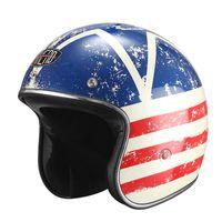 american flag helmet - FRP Motorcycle Helmet American retro helmet Harley helmet ROUTE USA FLAG White Italy Black Italy