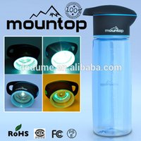 antibacterial hand - antibacterial water bottle UV sterilization filter hot water plastic cycling uv light pctg material personalized high tech