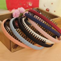 Wholesale 2016 New Fashion Multicolor Headband with Teeth Practical Cloth Hair Band for Women amp Girls Hair Accessories Hairband Jewelry