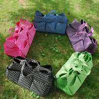 Wholesale Blanks Quatrefoil Polyester Large Garden Tote Utility Tote Bag Garden Tool Bags in many colors DOM1038149
