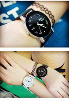 acrylic words - Womens English Words Watches Korean Wrist Watch For Boys Girls Leather Straps Watch Bands Quartz Watches