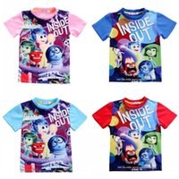 baby inside t shirt - 2016 New Arrival Kids Baby Boys Girls Cartoon Inside Out Print Tops T shirt Tees