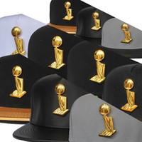 basketball trophies - Cheap Champions Trophy Metal Logo Basketball Hats Snapback Hats Snakeskin Brim Hats Adjustable Cap