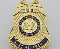 antique service - Diplomatic Security Service Department Of service Special Agent REPLICA Metal Badge