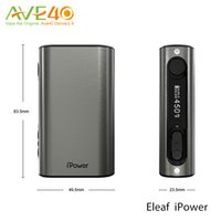 Wholesale Eleaf Ipower box Mod kits istick ipower TC VW vape mods w ecigarette with mAh thread Bypass Smart TC Mode Matching Melo Original