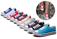Cheap with box! Fashion Women and men Canvas Casual Shoes High Low Top Canvas Shoes Breathable Classic Canvas Flat Casual Shoes