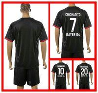 bender shirts - Hot Sell Uniforms Kit Bayer Leverkusen Hernandez Bender Calhanoglu Kiessling Black Away Soccer Jersey full shirt