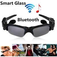 Wholesale 1PCS Smart Sunglasses HBS Wireless Bluetooth Headphones Smart Glasses Polarized Eyewear Headset For Android IOS Smart Electronics