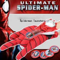 batman gloves - Children Cosplay Spiderman Ironman Batman Captain America Hulk Gloves Wrist Transmitter Gloves Launcher Flying Toy Kids Toys Gloves XL T119