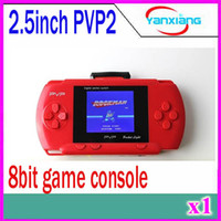 Wholesale Drop shipping portable pvp bit game player pocket game with Free Game card built in classical games ZY PVP2